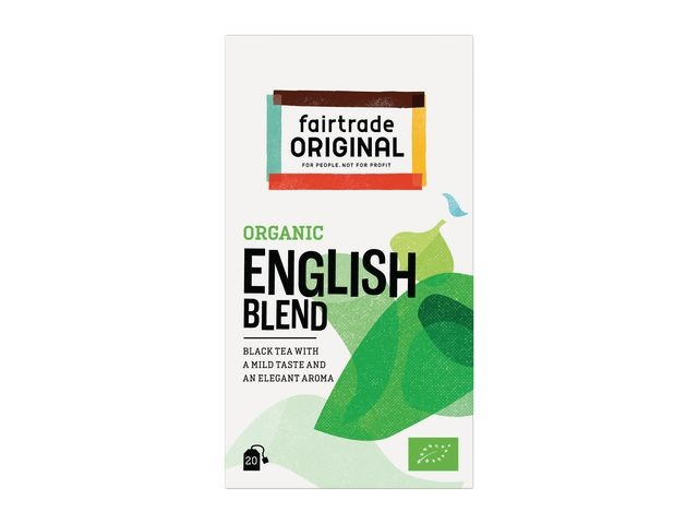 FAIR TRADE ORIGINAL Thee FT Organic English Blend /ds6x20