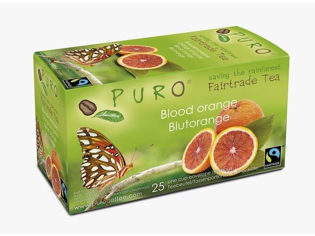 PURO Thee Puro fairtr bl sinaasappel/ds6x25