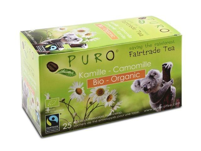 PURO Thee Puro fairtrade kamille bio/pk6x25