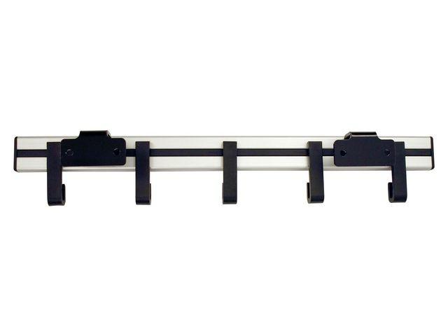 Kapstok wand pro-line 50cm 5 haken zwart
