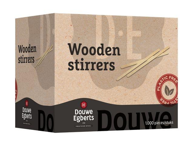 Douwe Egberts Roerstaafje hout DE 14cm/pk1000