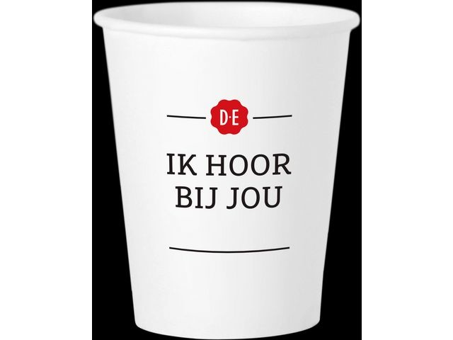 Douwe Egberts Beker DE karton re-use 180ml/ds20x100