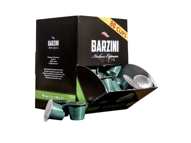 BARZINI Koffie capsules Barzini Lungo 80/ds6