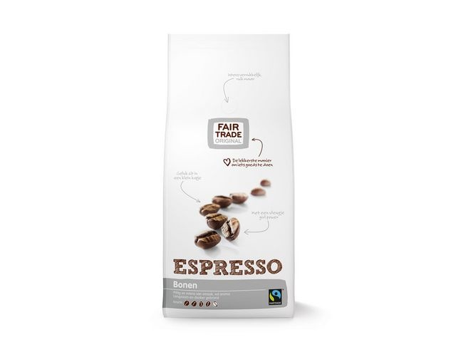 FAIR TRADE ORIGINAL Koffiebonen Espresso 1000gr/ds4