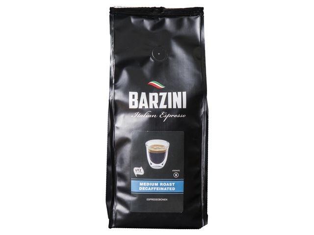 BARZINI BARZINI Decaf Medium Roast Espresso, UTZ Koffiebonen, Cafeinevrij, 500 gr (doos 6 x 500 gram)