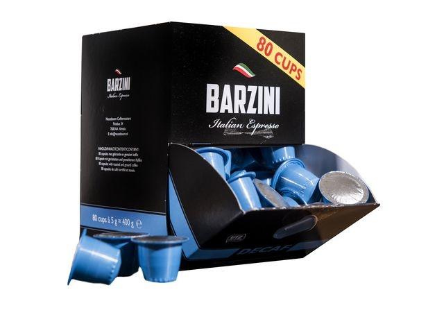 BARZINI Koffie capsules Caffeinevrij 80/ds6