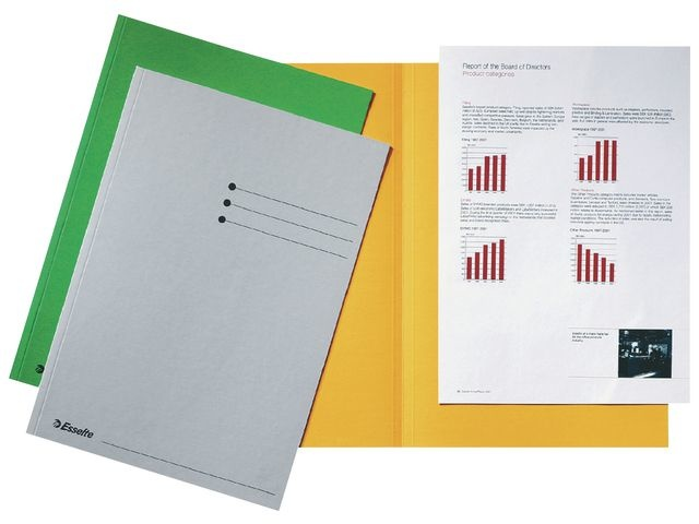 Esselte Esselte Vouwmap bedrukt A4, 180 g/m², geel (pak 100 stuks)