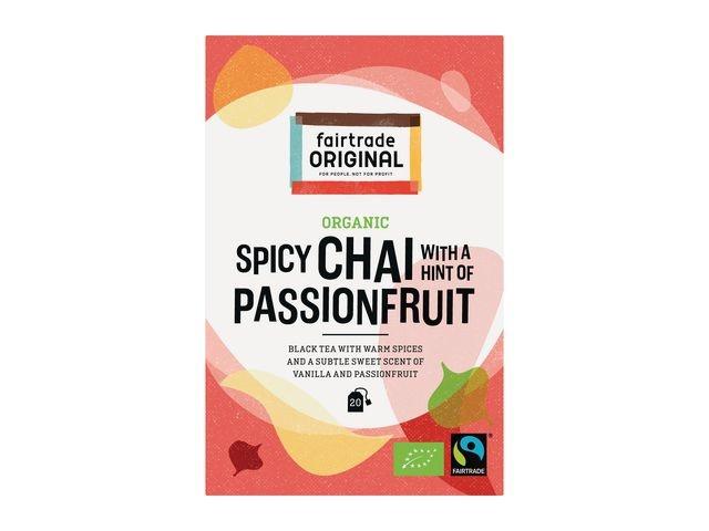 FAIR TRADE ORIGINAL FAIR TRADE ORIGINAL Organic Thee, Spicy Chai With Passionfruit (doos 6 x 20 stuks)