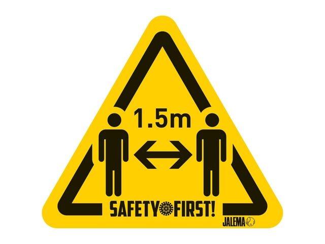 Jalema Waarschuwingssticker 1.5mtr persoon/p4