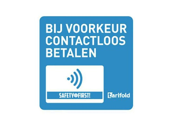tarifold tarifold Sticker Contactloos betalen. Vinyl. 100 x 100 mm (pak 2 stuks)