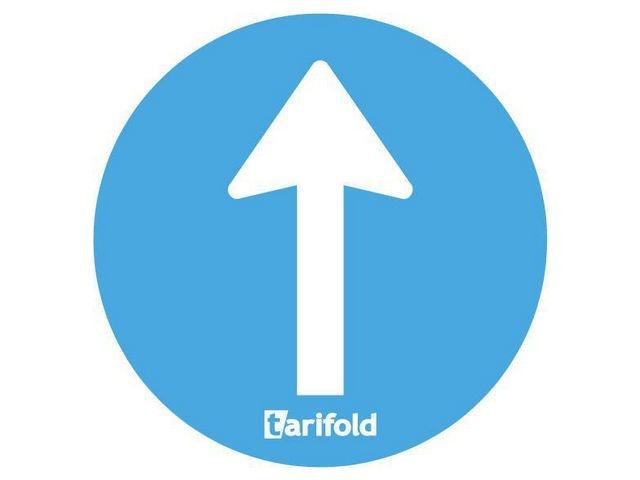 tarifold Waarschuwingssticker eenrichting/p10