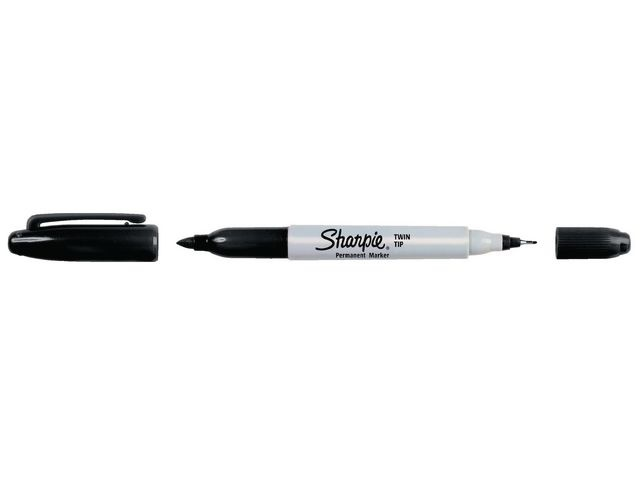 Sharpie Marker twintip Sharpie F en UF zwart/12