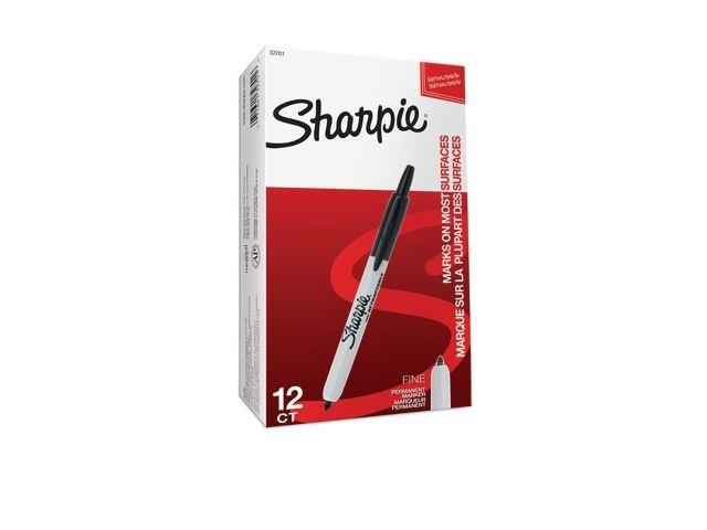 Sharpie Permanent marker Sharpie fijn RT zw/ds12