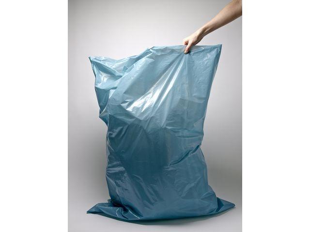 Afvalzak 120 liter. 70 x 110 cm. 70 micron. Blauw (rol 20 stuks)