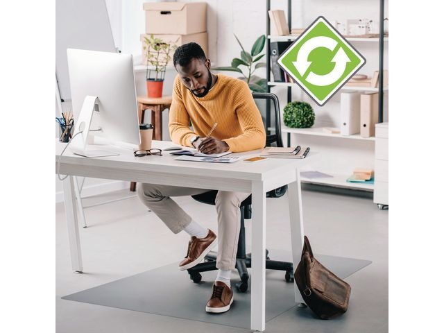 ECOTEX Stoelmat Ecotex harde vl 120x90cm recycl