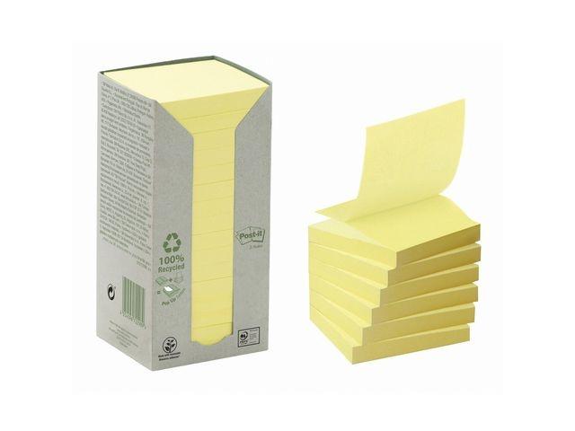 Post-it® Notitieblok Post-it Z rec 76x76 gl/pk16