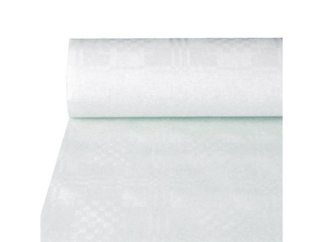 PAPSTAR Tafelkleed op rol 10mx100cm damast wit