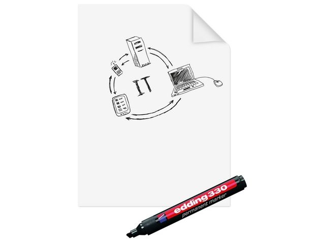 Legamaster Flipoverfolie MagicChart 60cm papier/25v