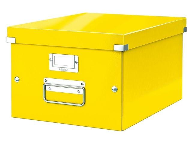 Leitz Leitz Click & Store Opbergdoos. Opvouwbaar. A4. Karton. Geel