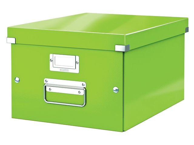 Leitz Leitz Click & Store Opbergdoos. Opvouwbaar. A4. Karton. Groen