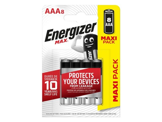 Energizer Batterij Energizer Max AAA/pk 8
