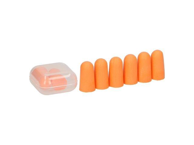Oordop foam m/bewaardoosje/blister 8
