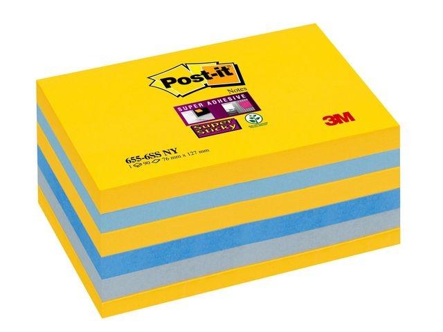 Post-it® Notitieblok SuperSt Z-Note 76x76 NY/pk6