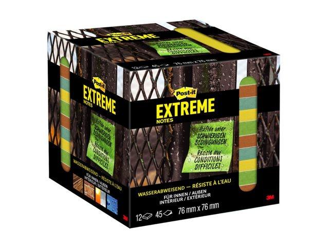 Post-it® Notitieblok Post-It Extreme 76x76 ass/12