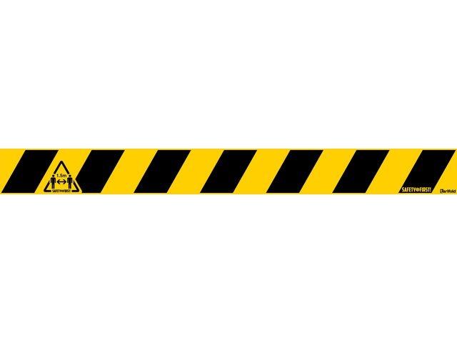 Jalema Markeringstape veiligheid 800x80 zw/geel