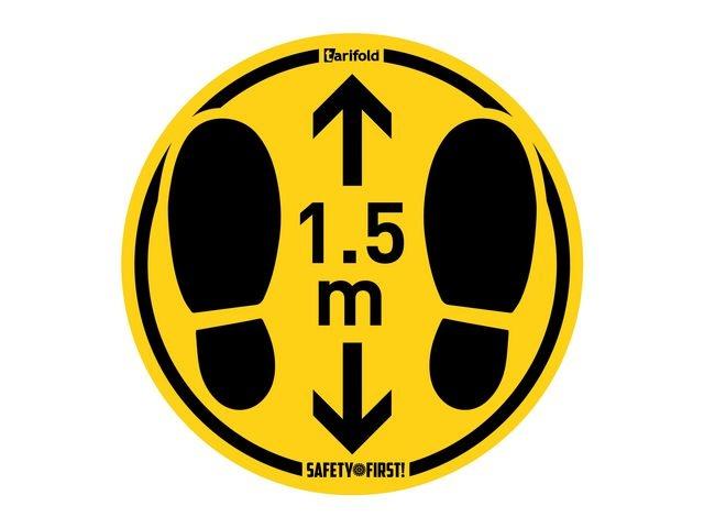 Jalema Waarschuwingssticker 1.5m gladde vloer/2