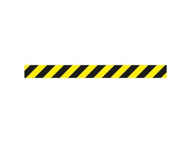 tarifold Markeringssticker 1000x90mm zwart/geel