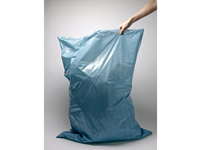 Afvalzak. 90 x 110 x 70 cm. Blauw (rol 10 stuks)