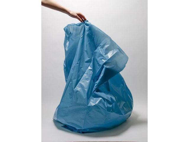 Afvalzak 240 liter. 65/25 x 70 cm. Blauw (rol 10 stuks)