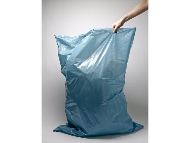 Afvalzak. 80 x 120 x 70 cm. Blauw (rol 20 stuks)