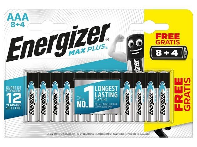 Energizer Batterij Energizer Max Plus AAA/pk8+4