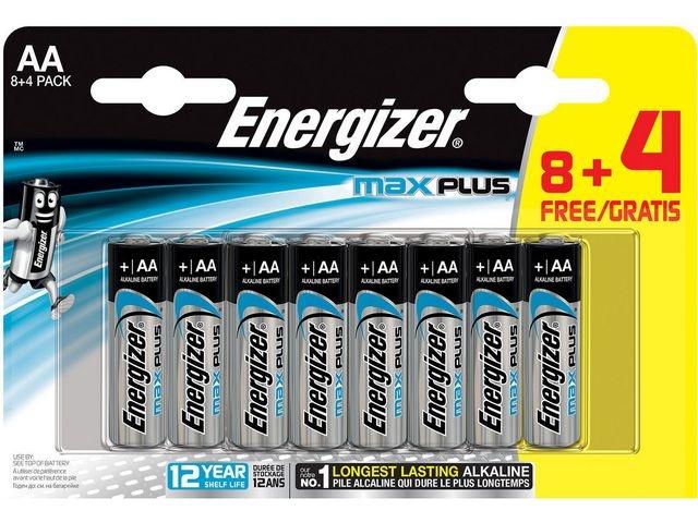 Energizer Batterij Energizer Max Plus AA/pk8+4