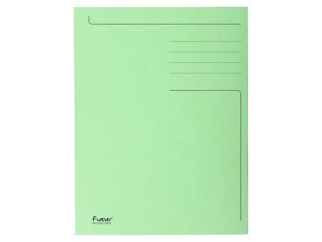 Exacompta Stofklepmap folio 280g 3-fl groen/pk50