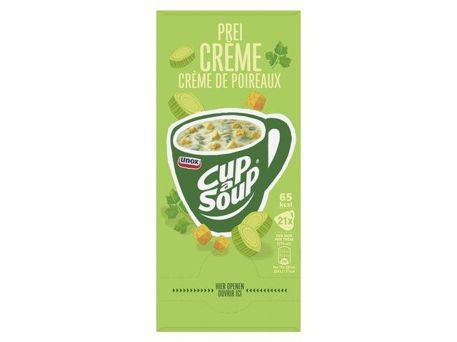 Unox Soep Cup-a-soup Unox prei creme/pk21