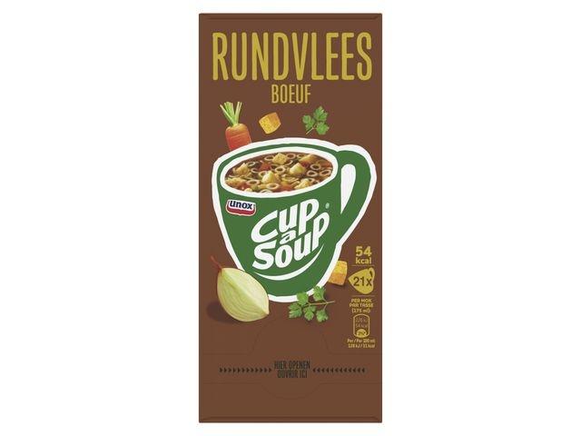 Unox Soep Cup-a-soup Unox rundvlees/pk21