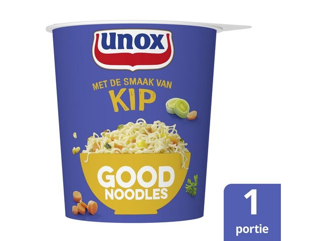 GOOD NOODLES Good noodles Unox kip cup 65g/pk8