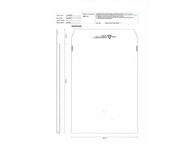Debatin Envelop 225x310mm transparant/ds1000