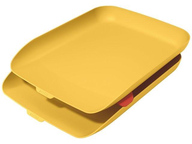 Leitz Brievenbak Cosy A4 warm geel/set 2