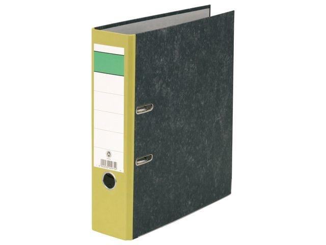Ordner 80mm A4 karton rug geel