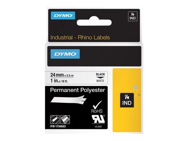 Dymo Tape Dymo Rhino perm. poly 24mm wit