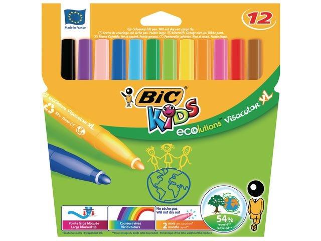 BiC Viltstift Visacolor XL Ecolutions/p12