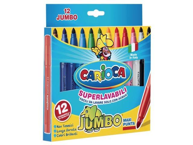 CARIOCA Viltstift Carioca Jumbo ass / pk12