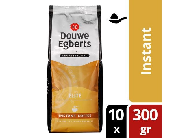 Douwe Egberts Koffie Instant elite DE 300gr/bx10