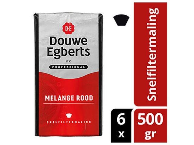 Douwe Egberts Koffie DE snelfiltermaling rood/ds6x500g