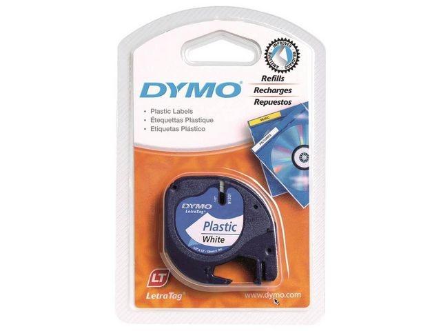 Dymo Tape Dymo Letratag 91201 12mm zw/wit