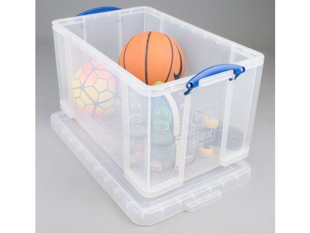Really Useful Box Opbergbox RUB 84L transparant